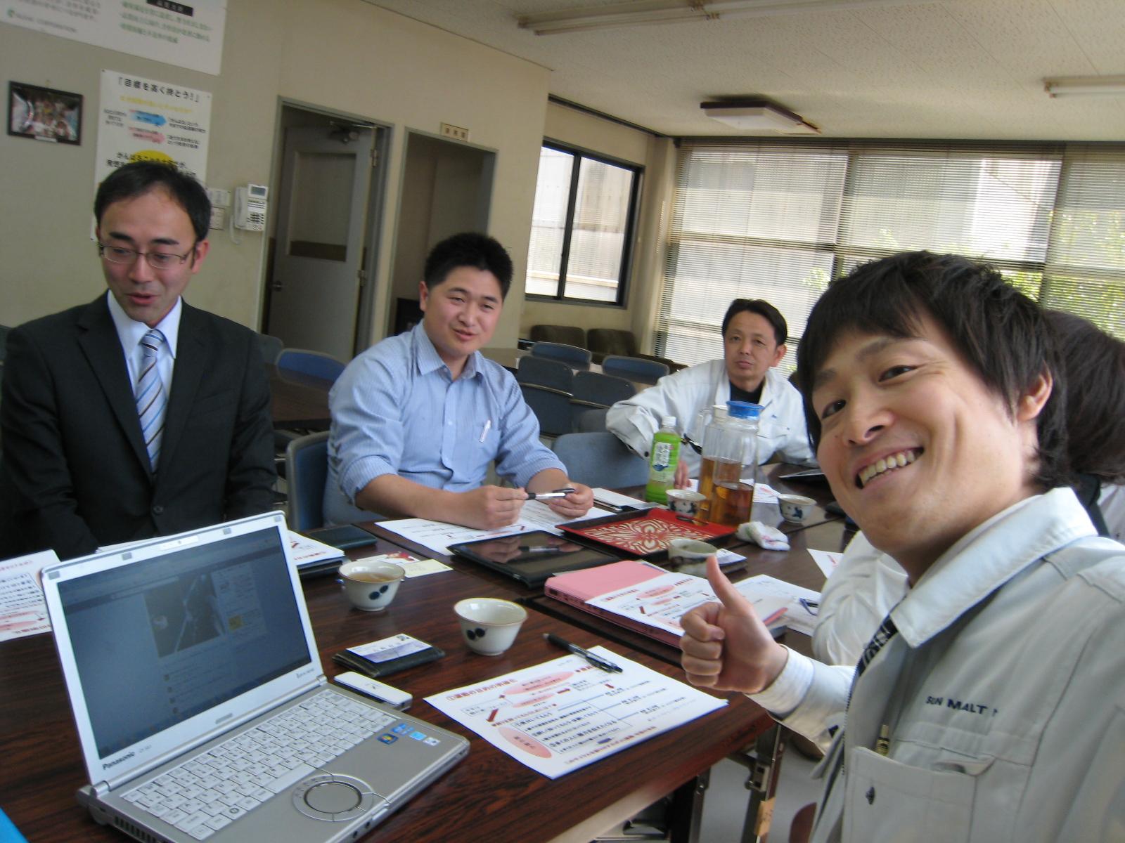 福山青年会議所の委員長との意見交換・おのみち家族の台所視察報告