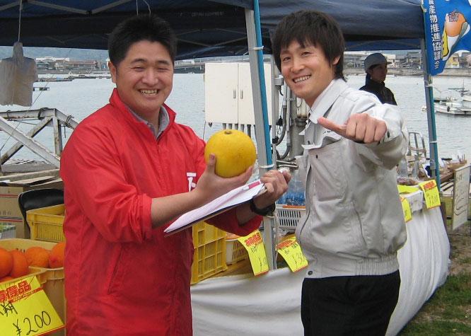今日と明日は福山市内海町で海辺のてんこもり市が開催
