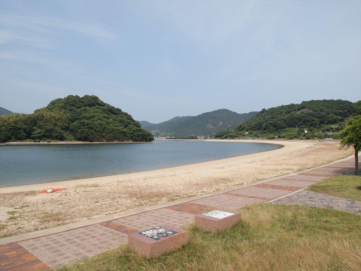 福山市内海町で海水浴「クレセントビーチ」の海開きは7月4日(金)