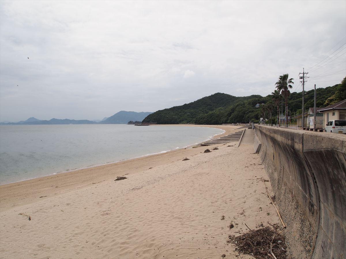 福山市内海町で海水浴「横山海岸海水浴場」の海開きは7月12日(土)