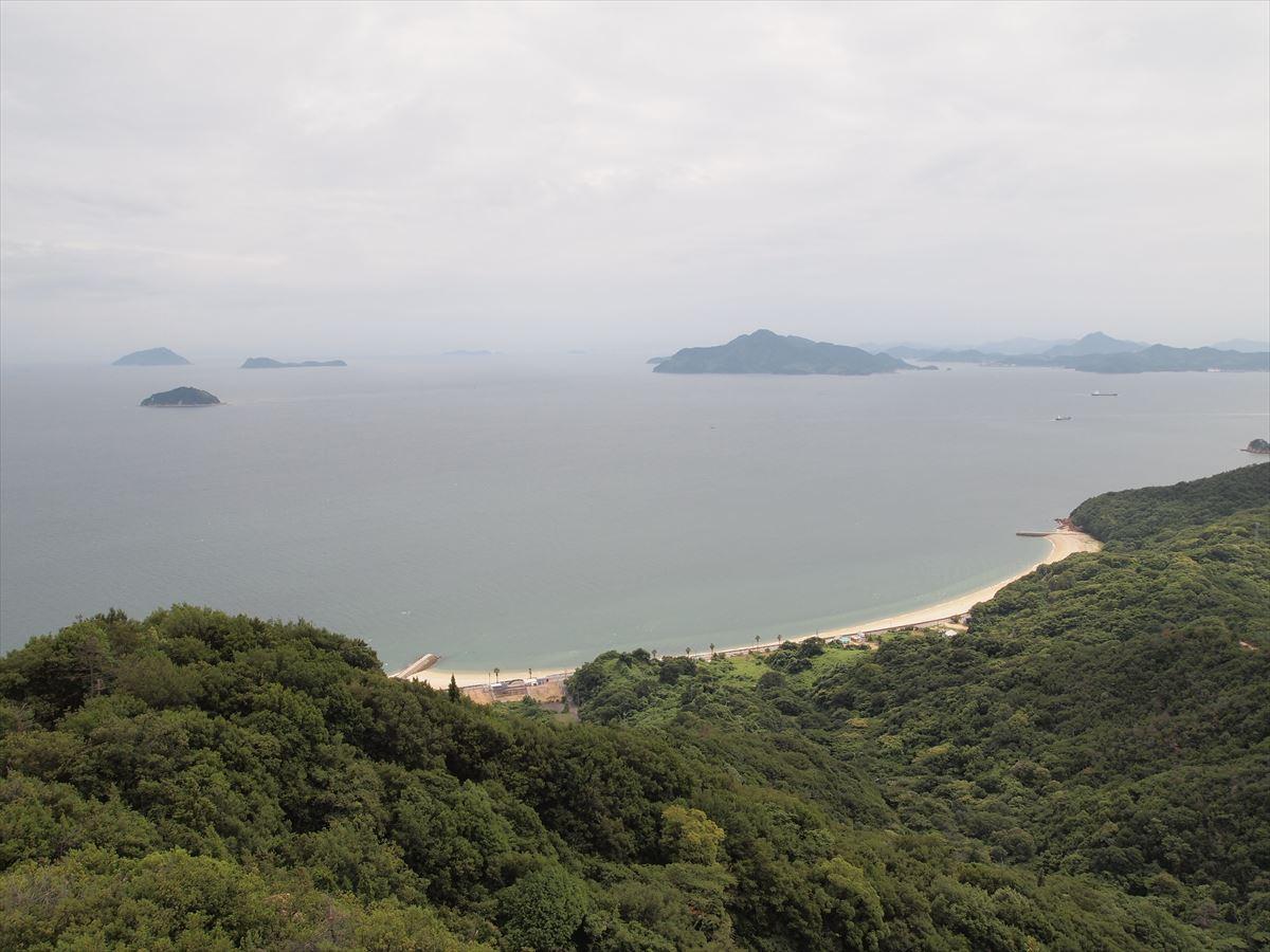 福山市内海町の絶景スポット「切石山展望台」