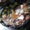 """福山市鞆町でランチ・昼食「お好み焼き""""のむら""""の豚玉とおでん」"""