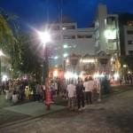福山市駅前商店街にて土曜夜店2015が開催