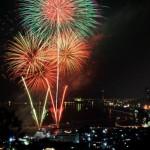 尾道市因島町の花火大会「いんのしま水軍花火大会2016」