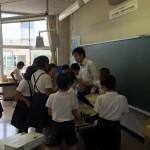福山市立鞆町学校で火育体験プログラム実施