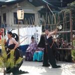 福山市鞆町の沼名前神社で「御弓神事(おゆみしんじ)」が行われます(2016年2月14日)