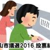 福山市議選2016 開票速報・投票結果