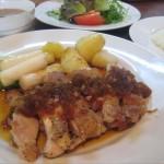 福山市鞆町、鞆町カフェー454の「鶏もも肉のソテー」~新メニュー第3弾~