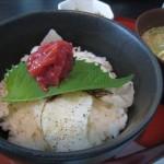ちりめんグルメプロジェクト#3「季節料理 衣笠のあぶり鯛丼とちりめん冷や汁」
