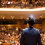 福山市長選立候補者、村上栄二氏が決起集会(8月17日)