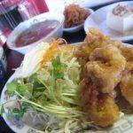 福山市多治米町の中華料理、ラーメン「三宝」~中華料理屋の中華そばと鶏の唐揚げ定食