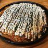 福山市多治米町の府中焼き、お好み焼き「SOLA(そら)」~キャベツぎっしり、ひき肉(ミンチ)を使ったお好み焼き