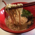 福山市東川口町のラーメン屋「ラーメン夢源(むげん)」~麺に絡む濃いめの醤油とんこつ