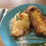 福山市新涯町のランチ、カフェ「KUKKA(クッカ)」~じっくり焼いたフレンチトーストのアイスのせ