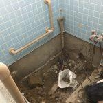 福山市鞆町の住宅リフォーム「浴槽交換工事」1日目~解体工事