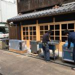 【厨房機器】福山市鞆町の設備工事「厨房機器の搬入」