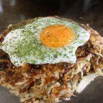 【お好み焼き】広島県安芸郡海田町の「まはろ」~そば肉玉半熟卵とろーりのせ