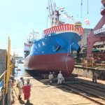 【進水式】福山市鞆町の造船所「本瓦造船」の進水式!~一般の方の見学も可能