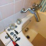 【水道工事】福山市丸の内「浴室水栓ケレップ交換工事」~浴室水栓の水漏れ修理