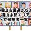 【市議選】福山市議選2020の立候補者一覧(福山中部エリア編)