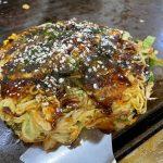 【ランチ】三原市の「お好み焼き たくちゃん」~麺、トッピング3種、玉子入りのたくちゃんモダン焼き