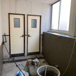 【トイレ】工場内のトイレ改装工事 vol.3~壁左官工事