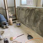 【トイレ】工場内のトイレ改装工事 vol.5~床タイル貼り工事