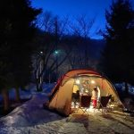 【雪中キャンプ】大鬼谷オートキャンプ場でファミリーキャンプ(33回目)~広島県庄原市高野町にあるキャンプ場