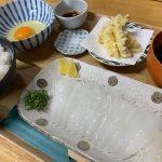 【ランチ】尾道市瀬戸田町の「食堂あおり」~あおりご飯げそ天付き